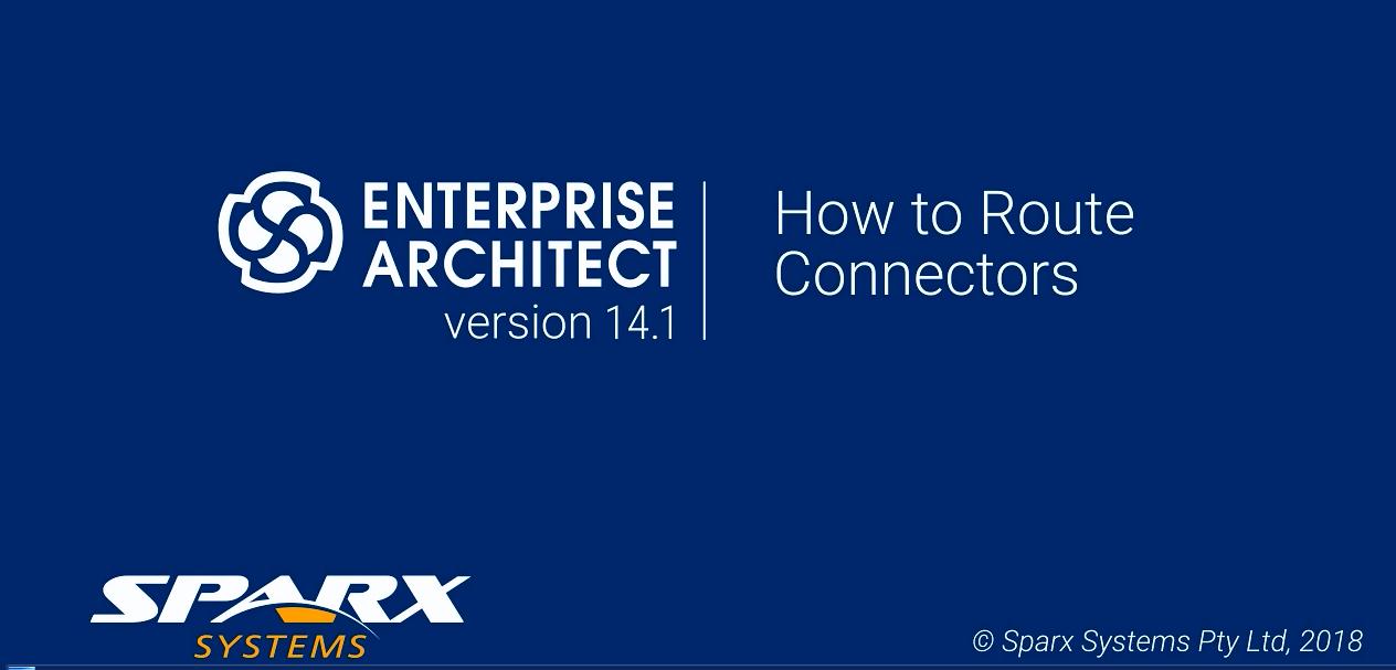 Enterprise Architect视频教程:如何布线连接器