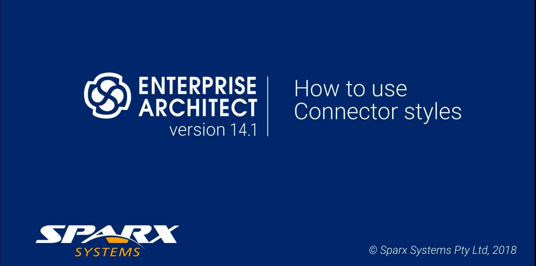Enterprise Architect视频教程:如何使用连接器样式