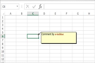Excel .NET组件Spire.XLS批注教程:添加修改及删除 Excel 批注