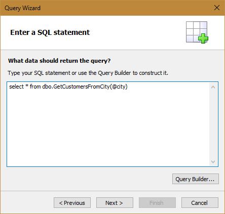 如何在FastReport.Net报表设计器中创建内部报表数据源时使用SQL查询