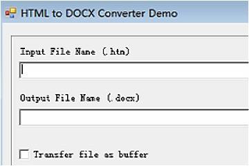 格式转换工具HTML to DOCX Converter最新版本v10发布,优化了界面设置