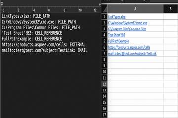 Excel Java组件Aspose.Cells功能亮点:检测超链接类型