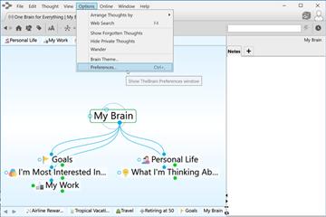 思维导图TheBrain基础实操教程——设置喜好的外观和感觉选项