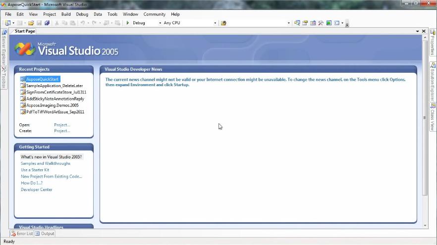 快速为.NET产品设置Aspose.Total .NET项目
