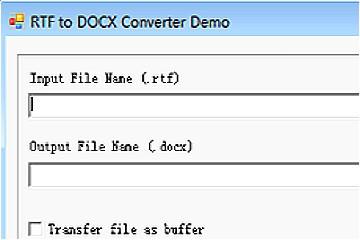 RTF to DOCX Converter v10(for .NET C#/WinForm/ASP.NET, 32/64 Bit)