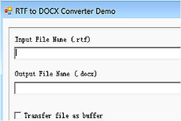 RTF to DOCX Converter v10(for Win32 DLL/ActiveX/MFC/C/C++/ASP)