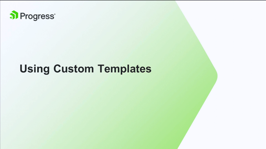 Kendo UI视频教程:使用自定义模板