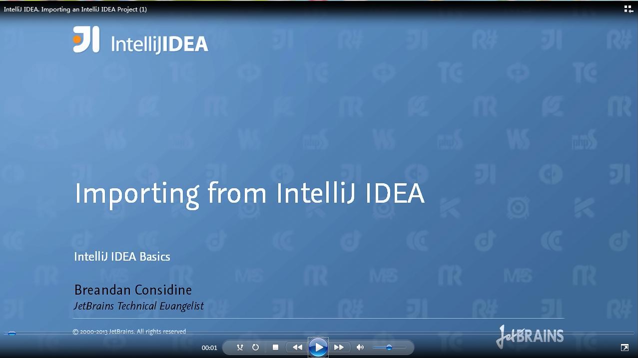 IntelliJ IDEA视频教程:导入IntelliJ IDEA项目