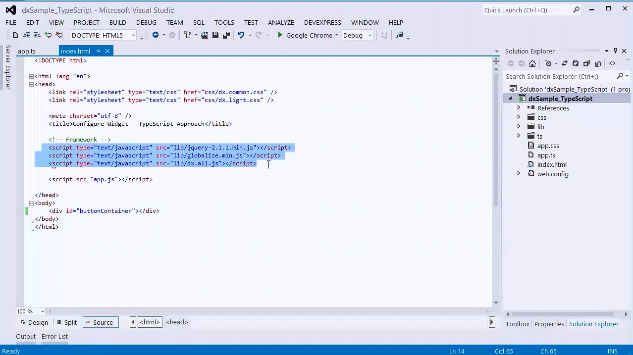 DevExtreme视频教程:使用TypeScript