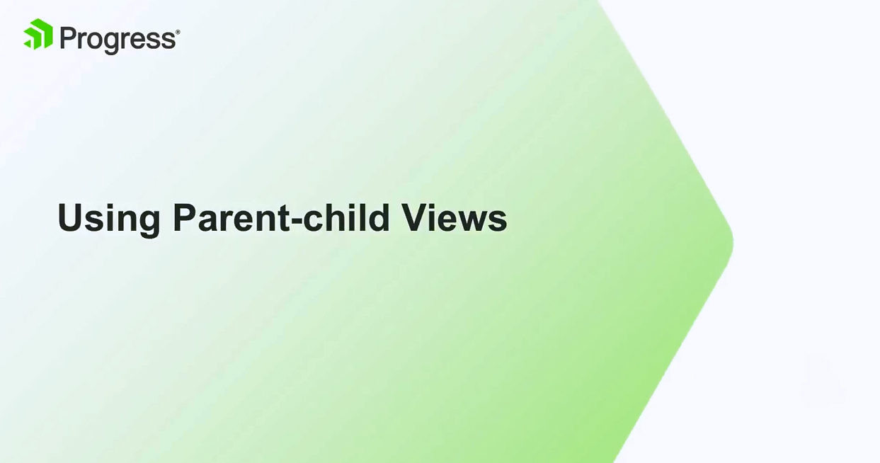 Kendo UI视频教程:使用Parent-Child视图