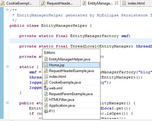 用于Productive Workflow的Eclipse快捷方式