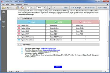 PDF管理控件Spire.PDF使用教程:添加打印按钮并打印自定义纸张大小