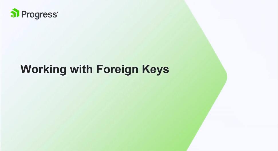 Kendo UI视频教程:使用外键