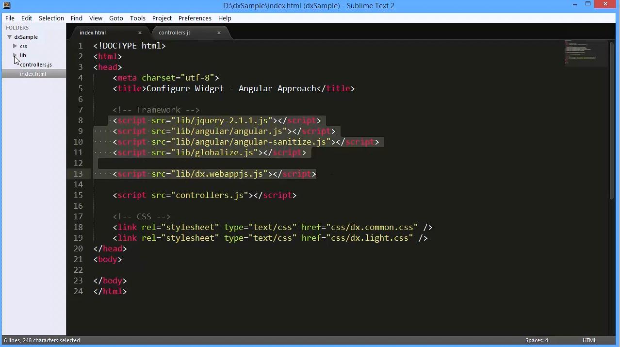 DevExpress DevExtreme:使用AngularJS