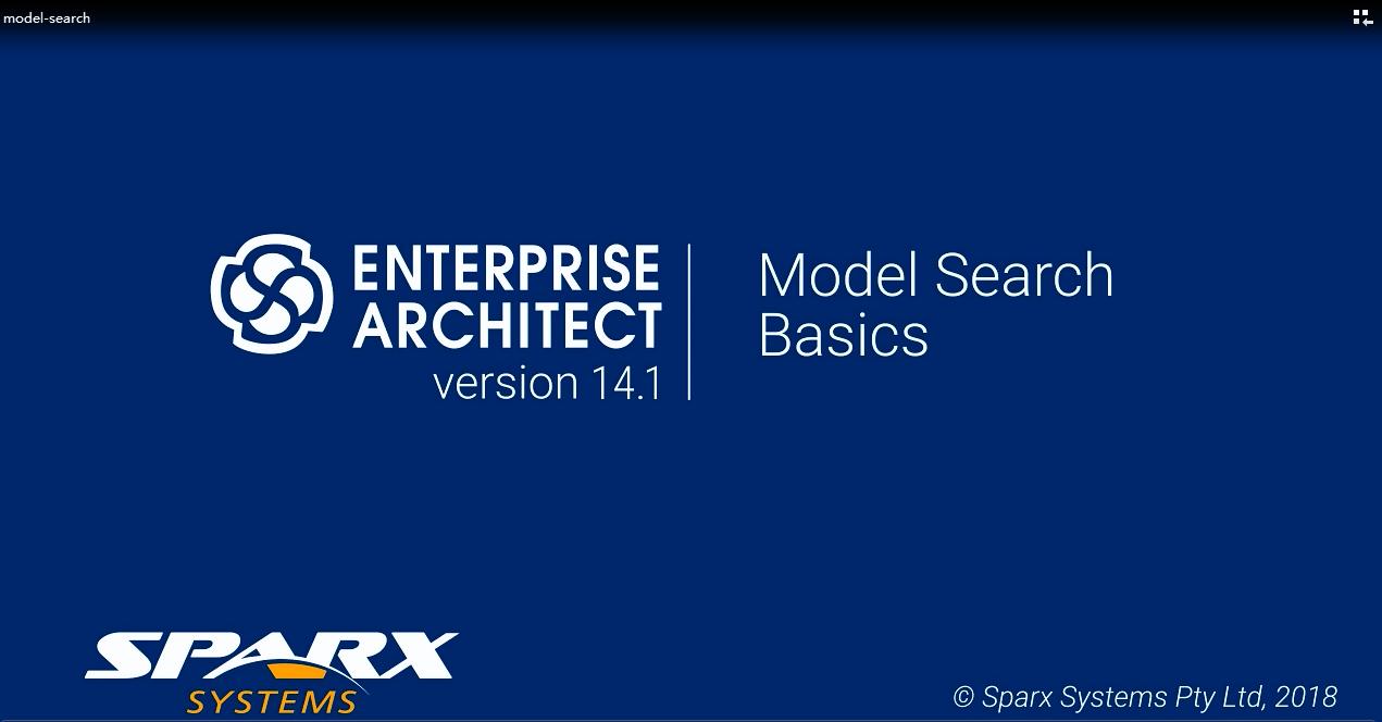 Enterprise Architect视频教程:模型搜索基础