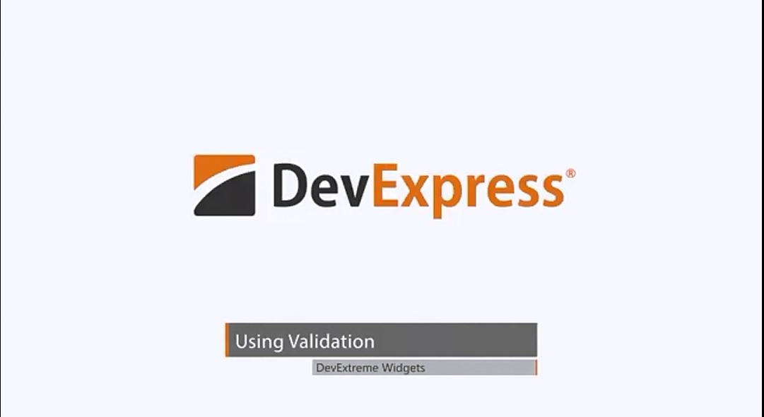 DevExpress DevExtreme视频教程:HTML5小部件—输入验证