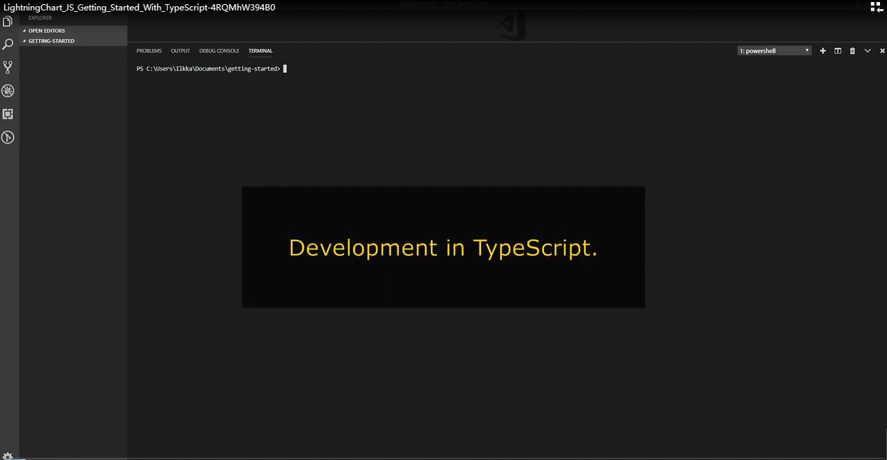 LightningChart JS入门视频(二):使用TypeScript