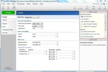样本量估计软件PASS入门教程(六):程序窗口计算按钮、帮助窗格和菜单项目