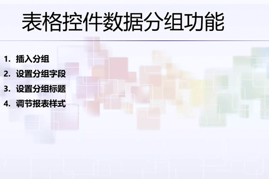ActiveReports教程:表格控件数据分组功能