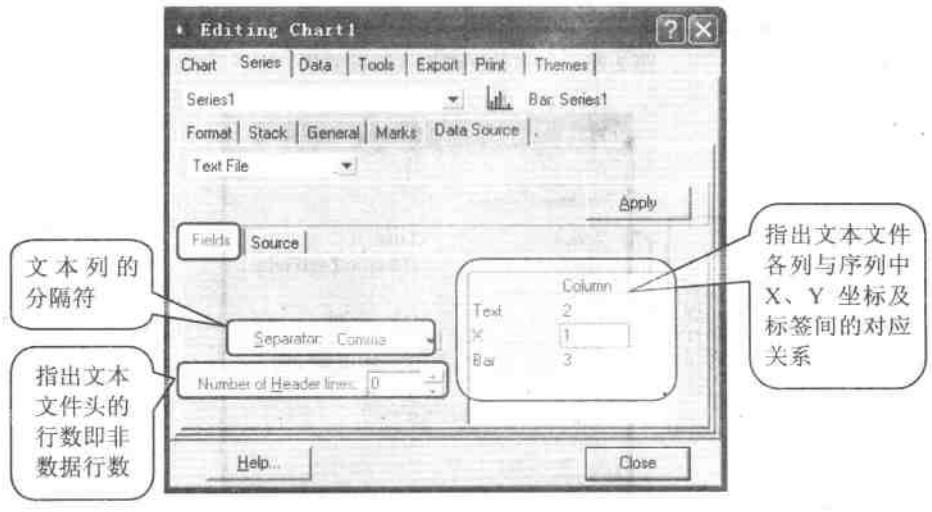 文本文件列与序列坐标对应关系设置
