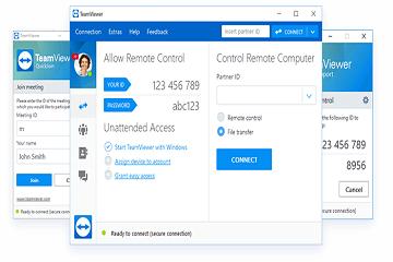 如何使用TeamViewer具有内置的VPN服务功能?