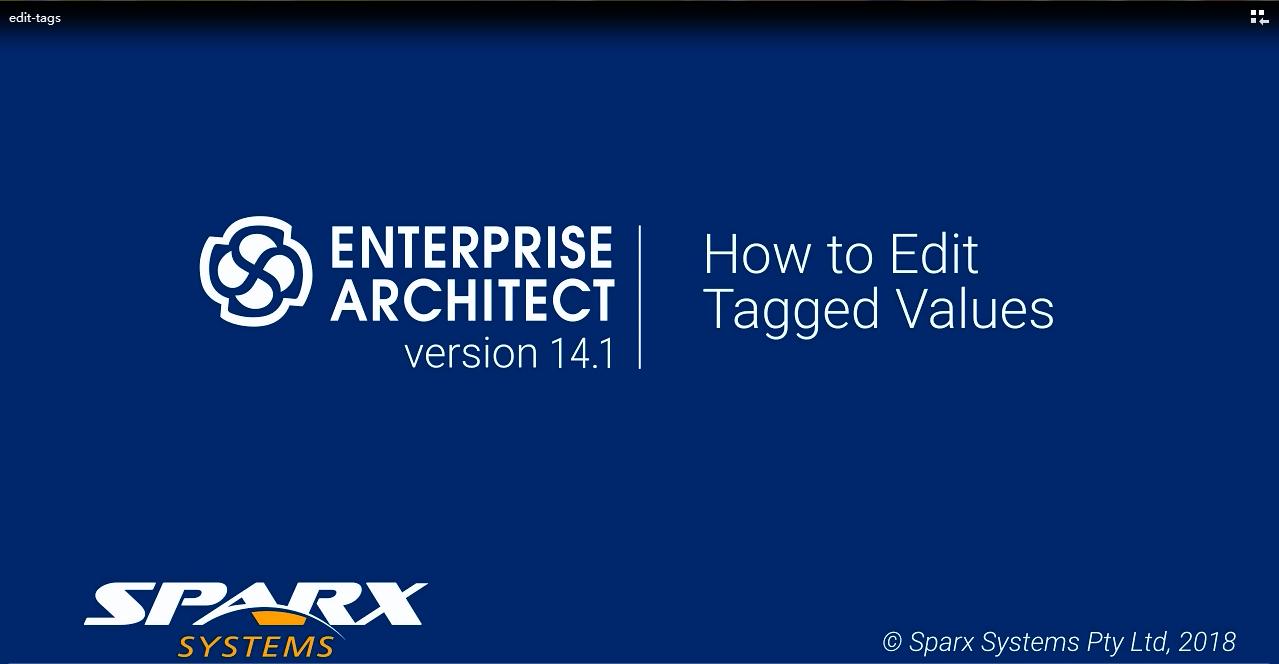 Enterprise Architect视频教程:如何编辑标记值