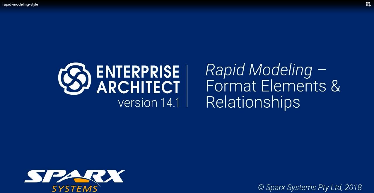 Enterprise Architect视频教程:快速建模-格式化元素和关系