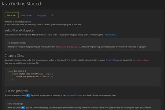 "使用Visual Studio Code编写Java教程:通过命令面板搜索""java"""