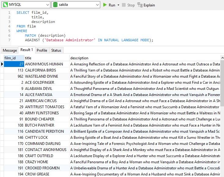 Navicat使用教程:在MySQL中执行全文搜索(第2部分)