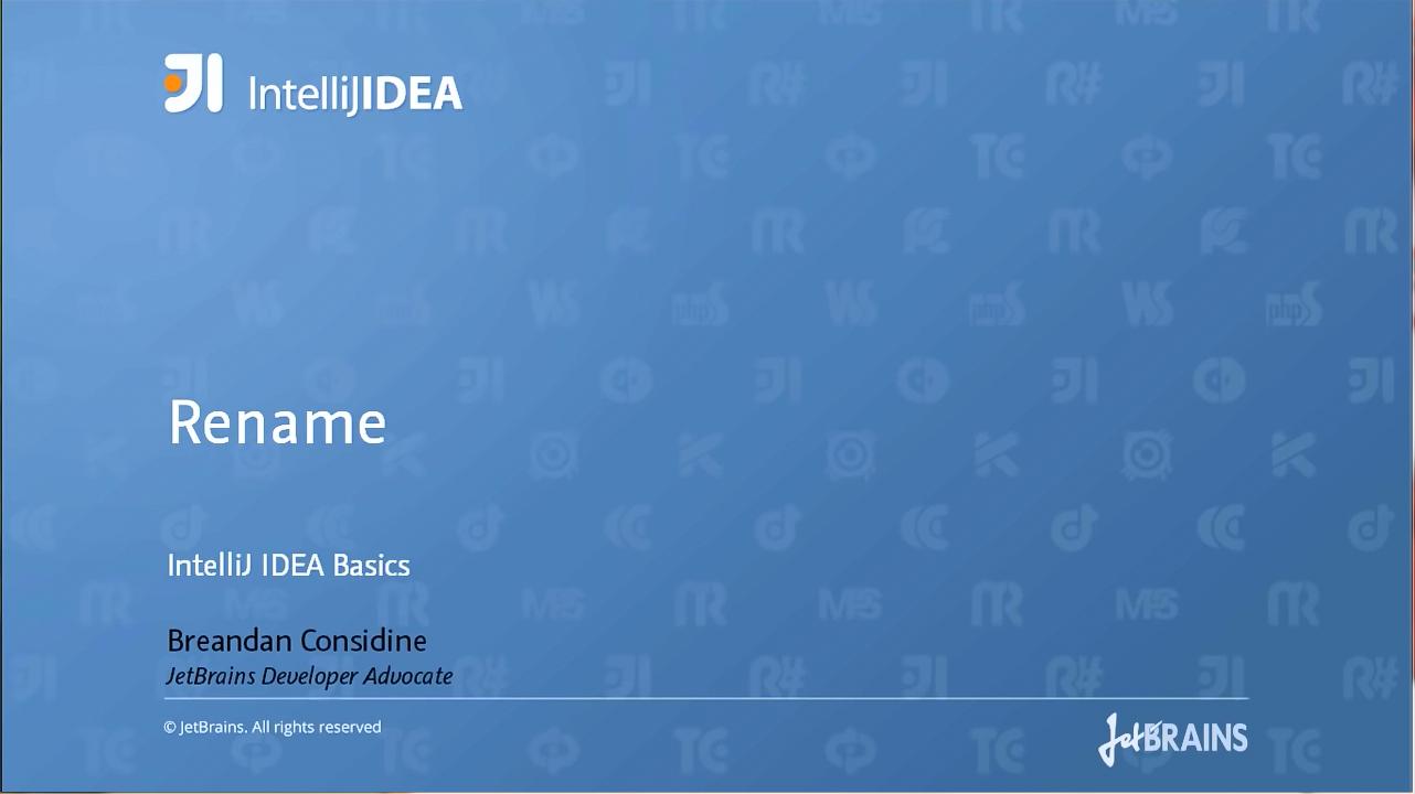 IntelliJ IDEA视频教程:重命名重构