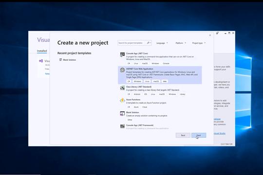Visual Studio教程:创建ASP.NET Core Web应用