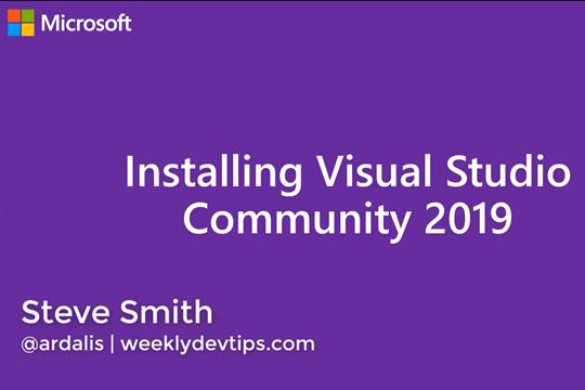 Visual Studio教程:安装2019版本