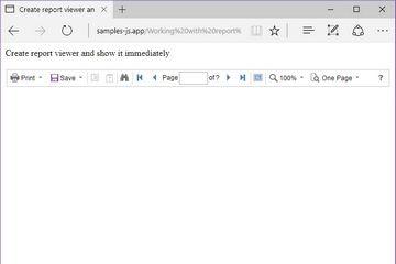 Stimulsoft Reports.JS教程:立即显示报表查看器