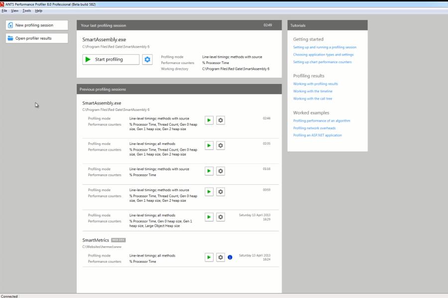 使用ANTS Performance Profiler分析.NET桌面可执行文件的性能