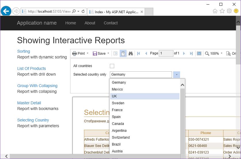 Stimulsoft ASP.NET MVC报表教程:显示交互式报表