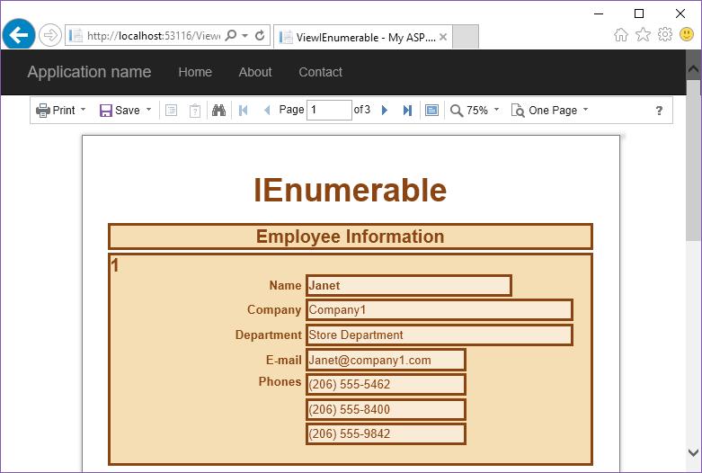 Stimulsoft ASP.NET MVC报表教程:在报表中使用业务对象