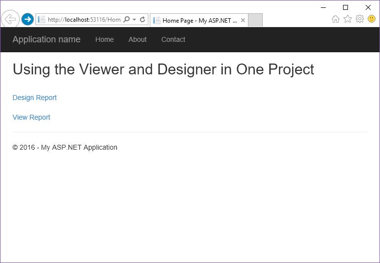 Stimulsoft ASP.NET MVC报表教程:在一个项目中使用查看器和设计器