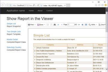 Stimulsoft ASP.NET MVC报表教程:在查看器中显示报表