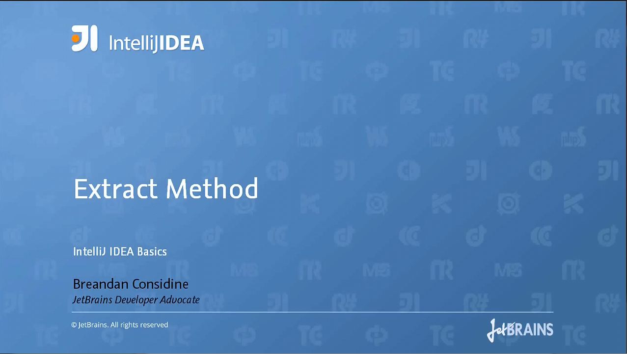 IntelliJ IDEA视频教程:提取方法