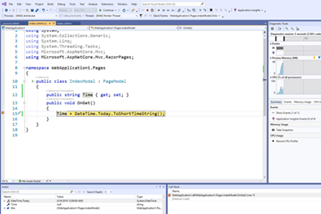 Visual Studio 2019教程:创建ASP.NET Core Web App