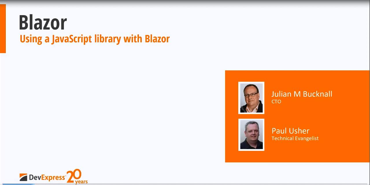 DevExpress视频教程:在Blazor组件中使用JavaScript库