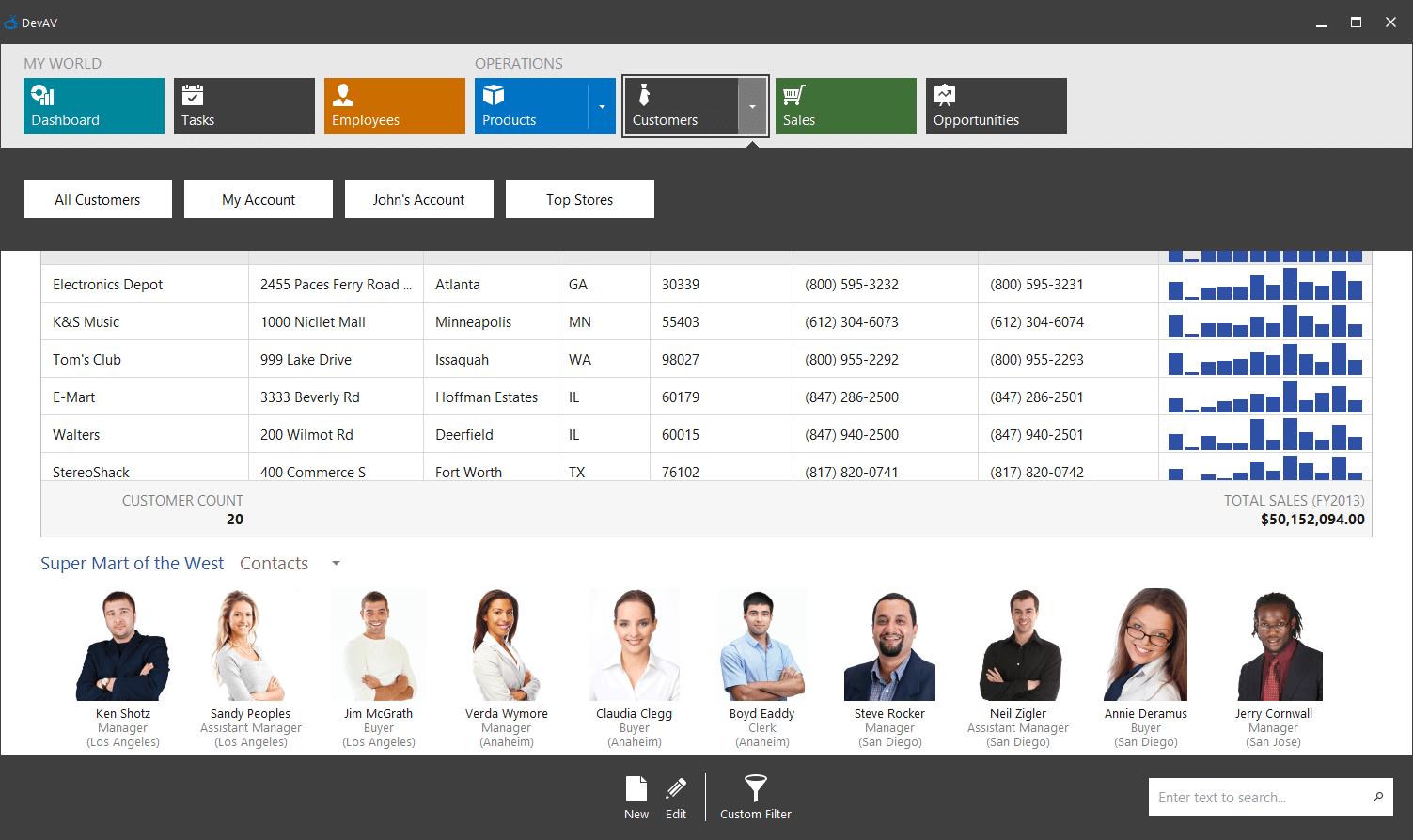DevExpress Blazor组件示例:为特定组件设置预定义设置的方法