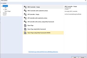 Visual Studio 2019教程:使用Entity Framework处理数据
