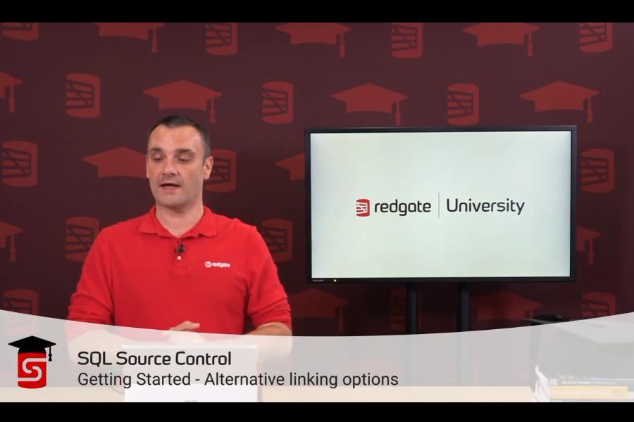 SQL Source Control视频教程:选择链接选项