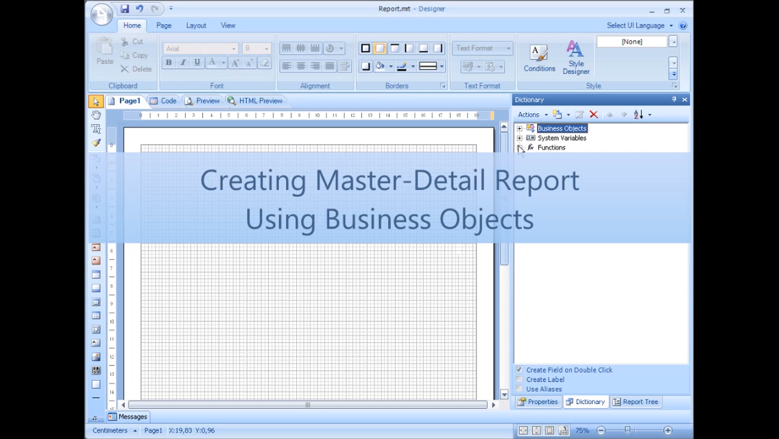 Stimulsoft报表工具:使用业务对象创建主从报表