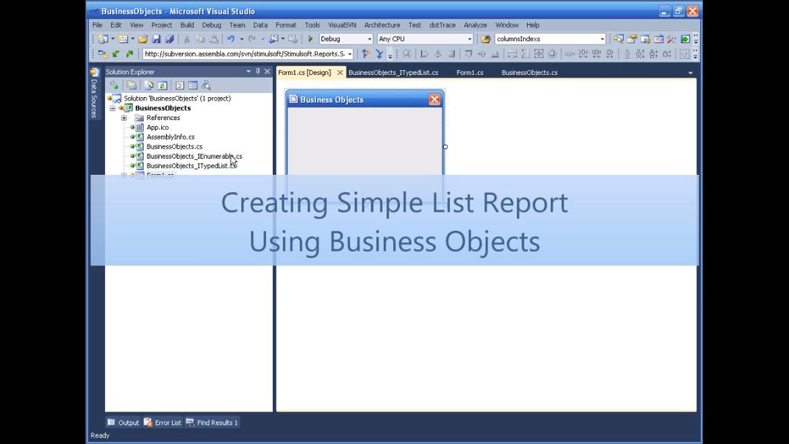 Stimulsoft报表工具:使用业务对象创建简单列表报表