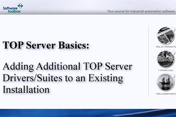 TOP Server OPC Server技术支持:将驱动程序添加到现有的TOP Sever Install中