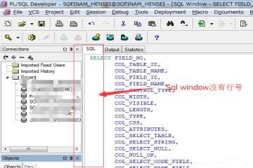 集成开发环境PL/SQL Developer教程:设置行号和修改字体大小
