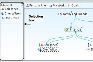 思维导图工具TheBrain基础实操教程——选择多个思想