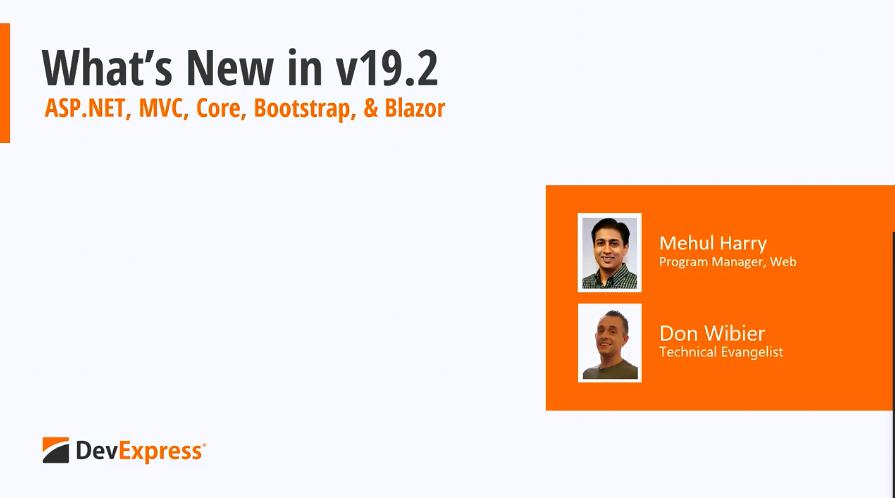 DevExpress v19.2新功能:ASP.NET、Blazor控件功能解析